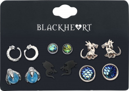 Blackheart Dragon Collection sada náušnic vícebarevný