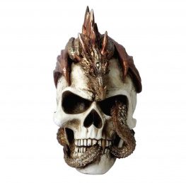 dekorace ALCHEMY GOTHIC - Dragon Keeper's Skull