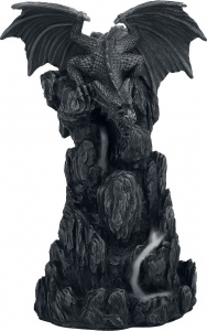 Nemesis Now Dragon Incense Tower držák na vonné tycinky charcoal