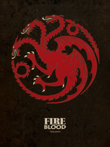 Posters Obraz na plátně Game of Thrones - Targaryen, (80 x 60 cm)