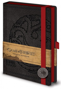 PYRAMID Hra o Trůny (Game of Thrones) - Targaryen Premium A5 Notebook