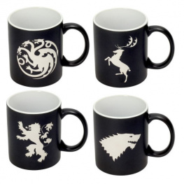 Sada čtyř hrnků Game of Thrones - Logos Collectors Edition