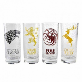 Sada sklenic Game of Thrones - Sigils (4 ks)