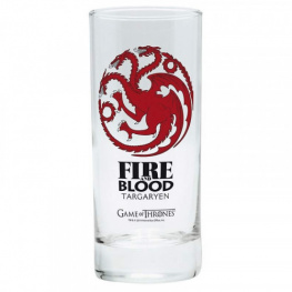 Sklenice Game of Thrones - Targaryen - Fire and Blood