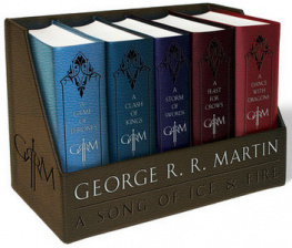 Song of Ice & Fire #1-5 George R. R. Martin's A Game of Thrones Leather Cloth Boxed Set - George R.